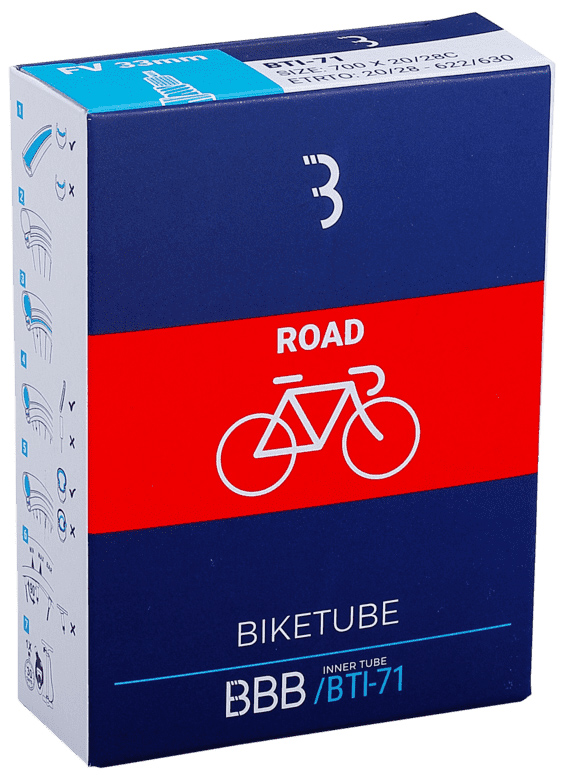Запчасть BBB BTI-71 BikeTube 700*20/28C FV NT 60 mm камера велосипедная bbb 27 5 2 10 2 35 fv 33mm защита от проколов велониппель bti 68