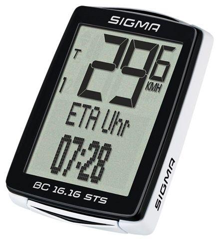 Аксессуар SIGMA BC 16.16 STS,16 функций велокомпьютер sigma bc 14 12 sts alti беспроводной