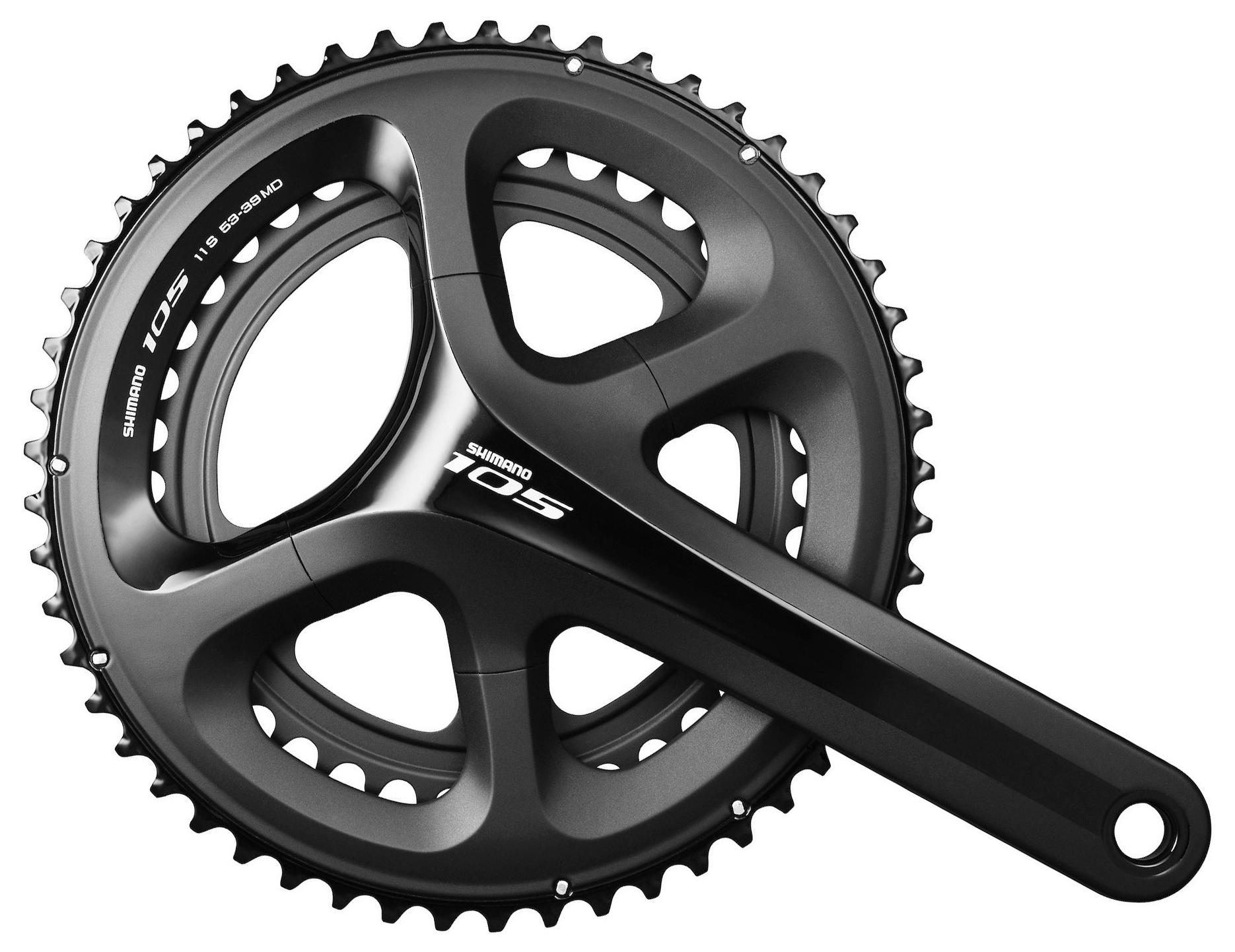 Запчасть Shimano 105, 5800, 11ск., 175мм (IFC5800EX04L) система велосипедная shimano altus 21 24скорости 48 38 28 175мм черная efcm311e888xl 2 932 1