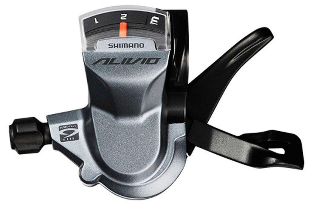 Запчасть Shimano Alivio M4000, лев, 3ск, тр. 1800 мм шифтер shimano alivio m4000 3 x 9 скоростей