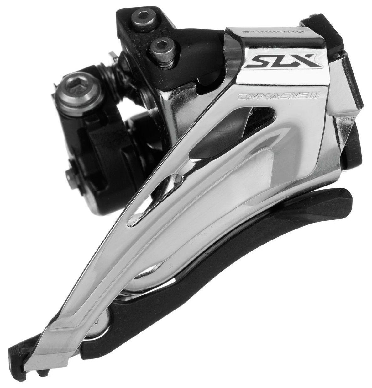 Запчасть Shimano SLX M7025-L, 2x11 переключатель передний shimano slx m7025 l нижний хомут для 2 х 11 скоростей нижняя тяга