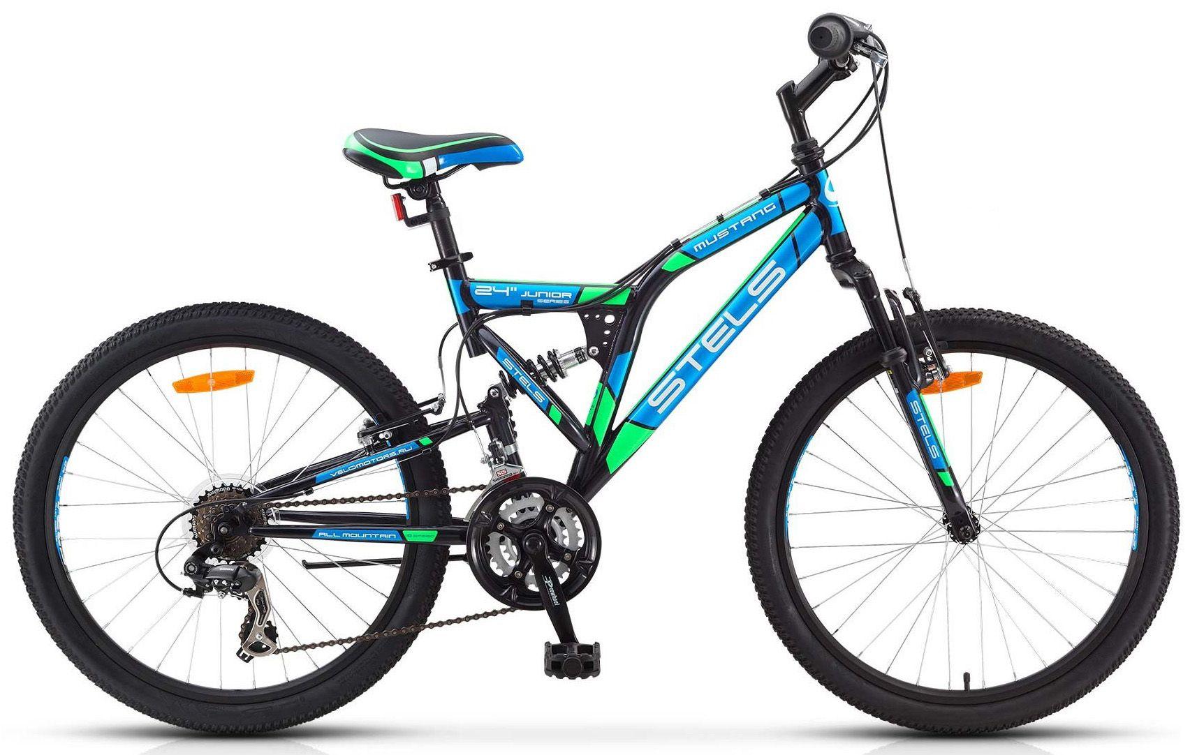 Велосипед Stels Mustang V 24 2017 велосипед stels mustang v 16 2017 green