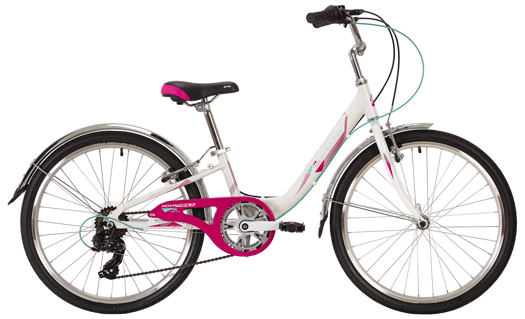 Велосипед Novatrack Ancona 7 sp 24 2019 велосипед novatrack 16 зебра бордово белый 165 zebra clr6