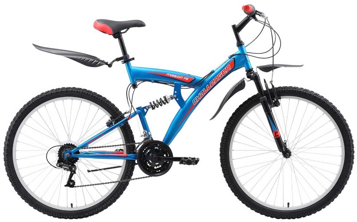 Велосипед Challanger Mission FS 26 2018 велосипед challenger mission lux fs 26 черно синий 16