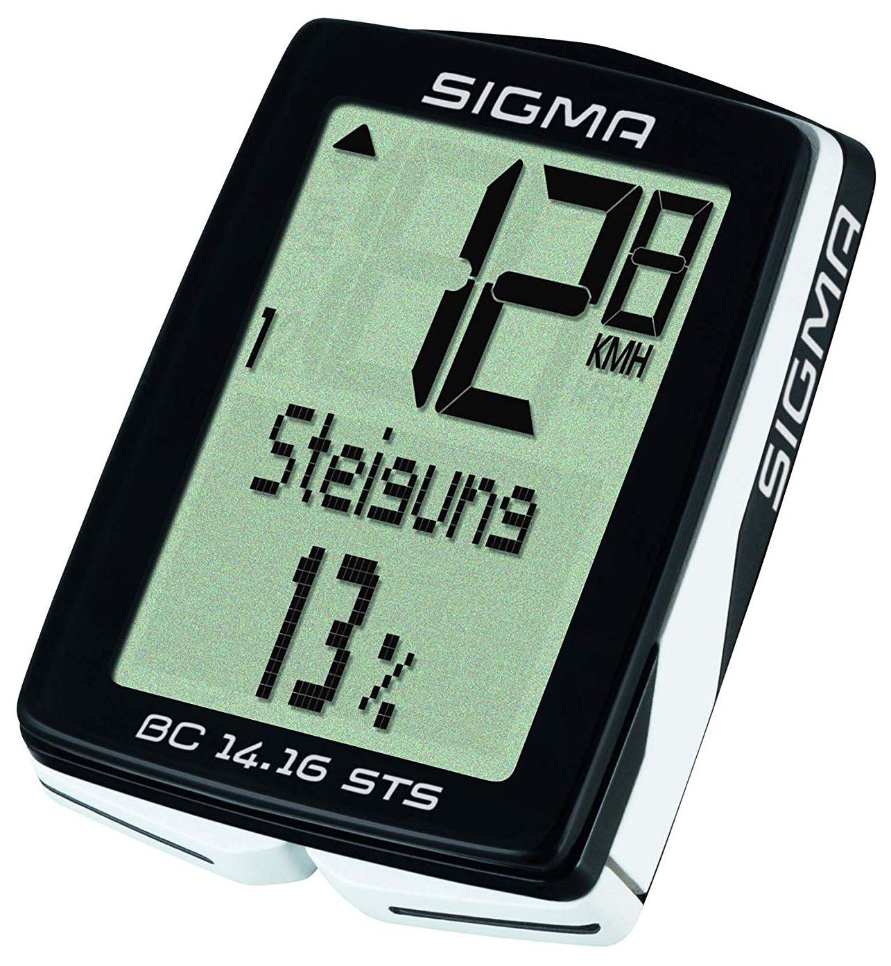 SIGMA  Fahrradcomputer BC 14.16 STS schwarz 01417 schwarz,01417